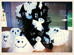 Halloween Ghost Coffee Filter Craft