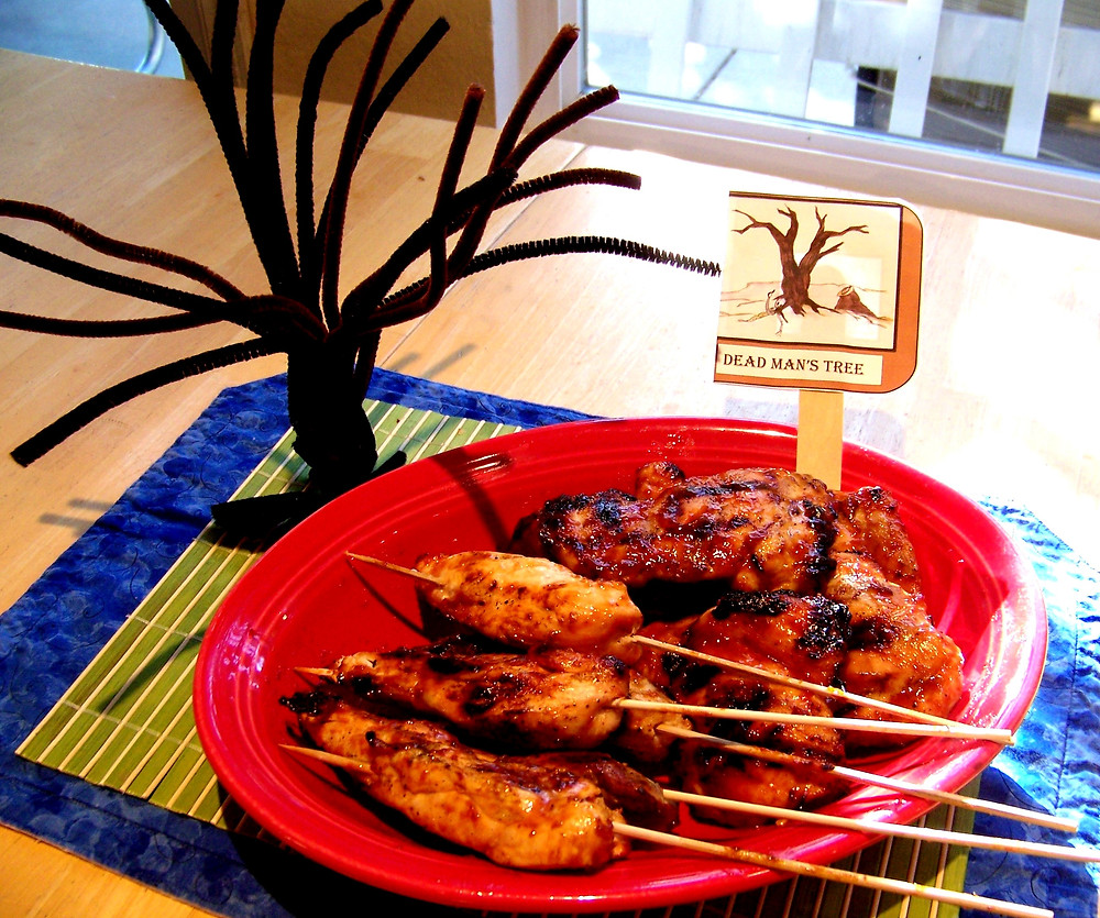 Dead Man's Tree sweet and slightly spicy chicken skewers!