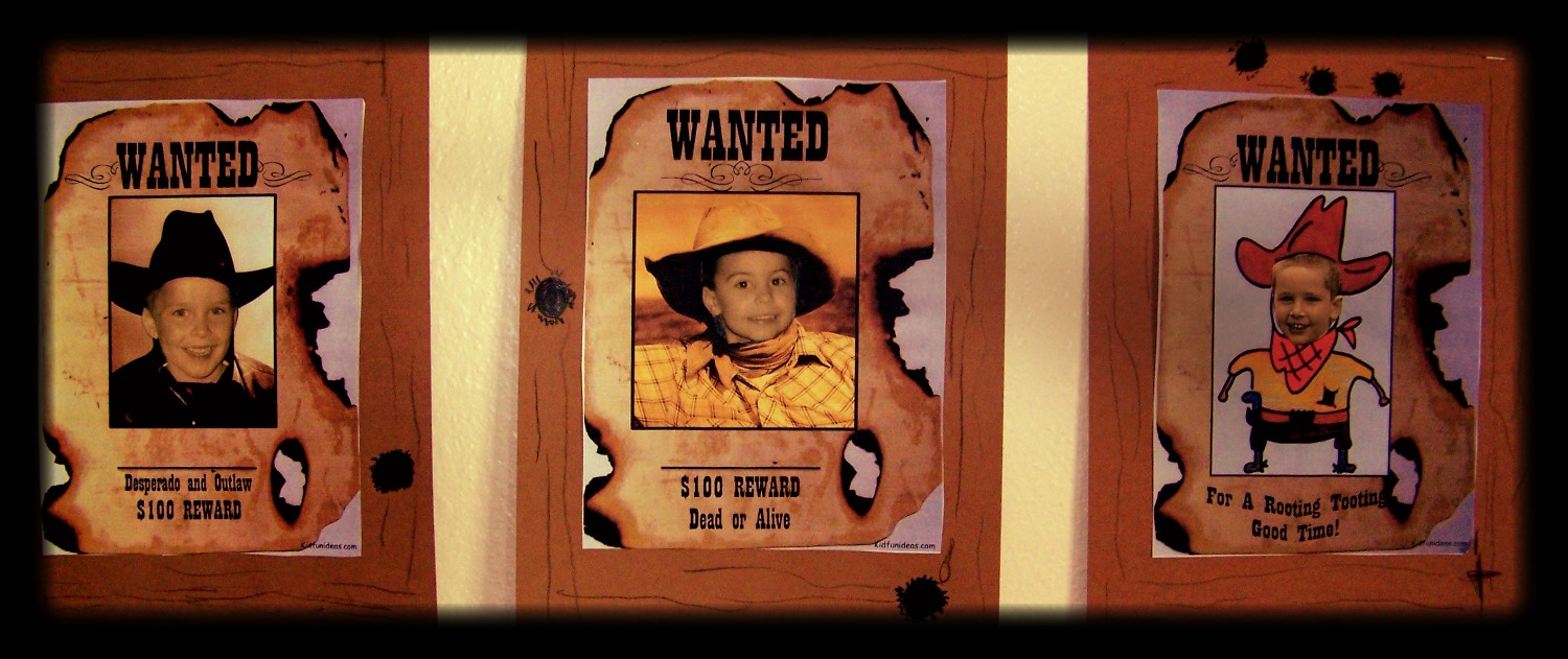Old west wanted poster
