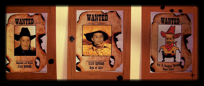 Kidfunideas.com Wanted poster craft for kids.  Watch out for these wiley desperados.  A fun and easy western cowboy craft for kids
