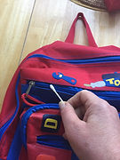 Kidfunideas.com Tip hero tip: Fix a stuck zipper with a q-tip and Vaseline