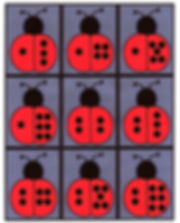 Kidfunideas.com Ladybug dominoes pattern sheet