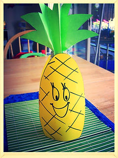 Kidfunideas.com Pineapple bowling game for kids