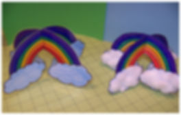 Kidfunideas.com 3D Rainbow craft picture of final craft