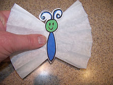 Kidfunideas.com Mother's day butterfly picture attaching the wings to the body picture