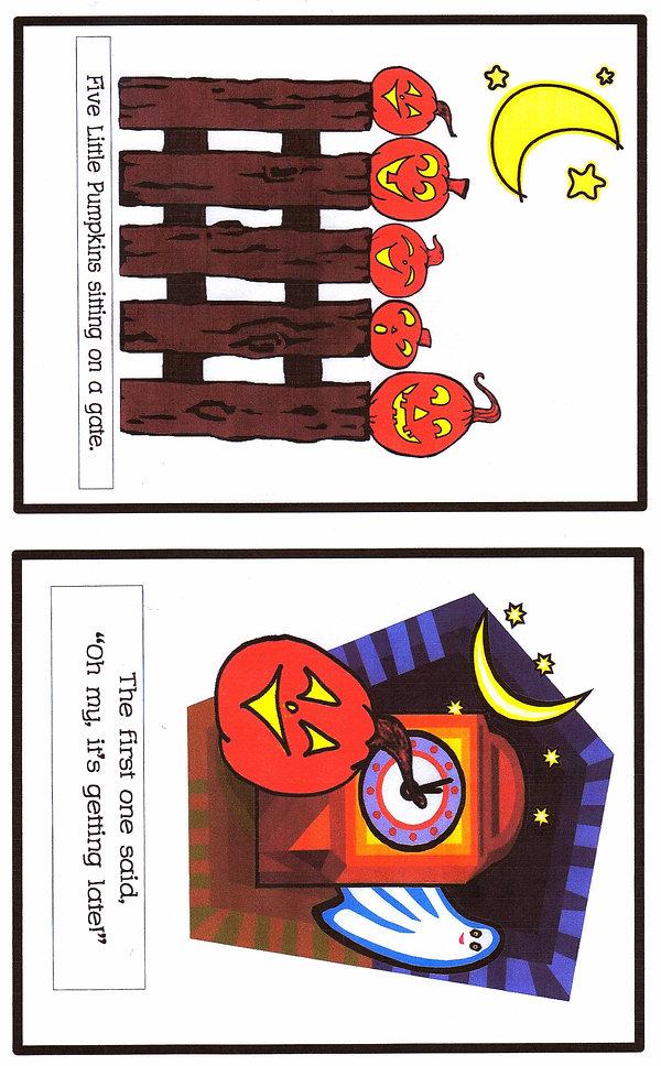 Kifunideas.com 5 little pumpkins freen halloween book for kids