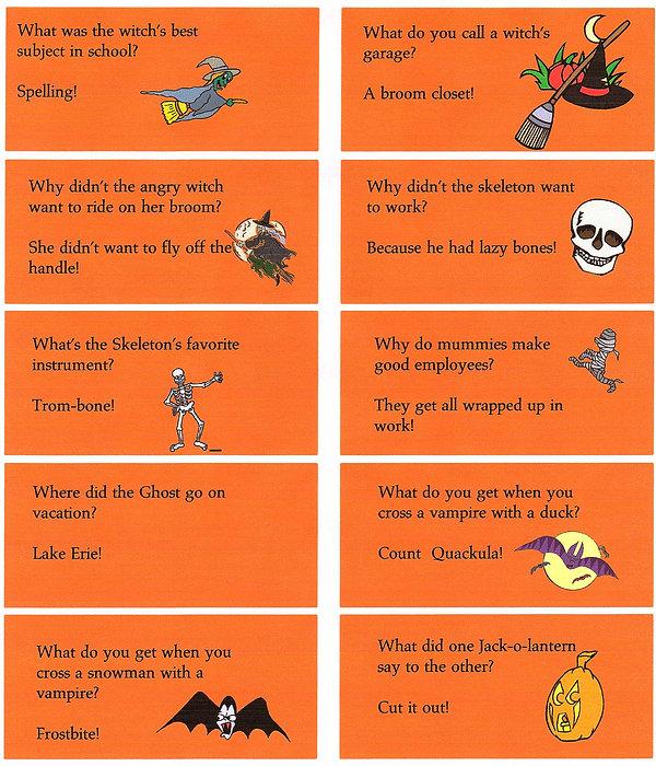 Kidfunideas.com super cute Halloween jokes for kids