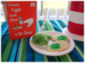 Kidfunideas.com Dr. Seuss green eggs and ham treats picture of final product