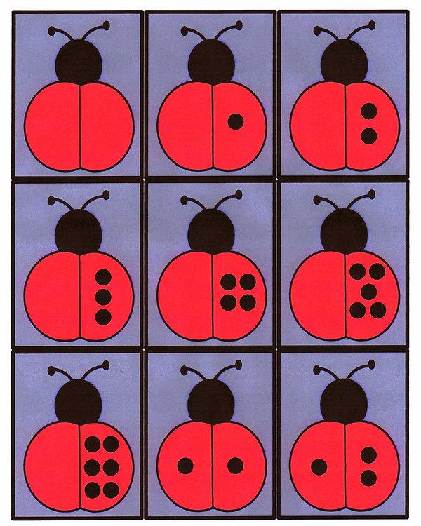 Kidfunideas.com ladybug donimoes pattern sheet