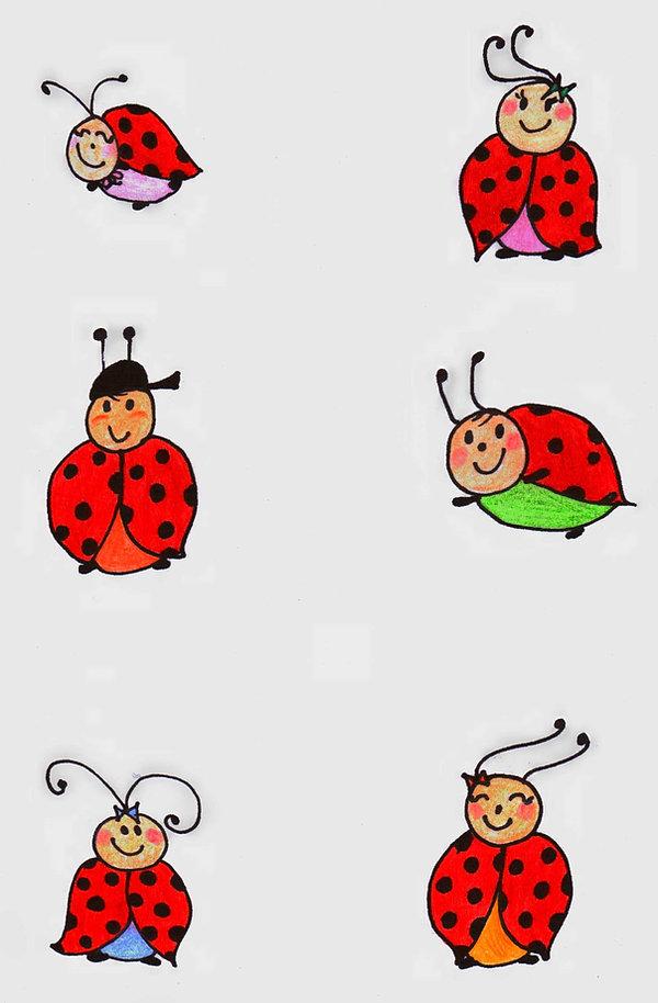 Kidfunideas.com ladybug picnic craft / color ladybug pattern sheet