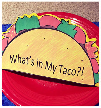 Kidfunideas.com What's in my Taco?! mini book craft for Cinco de Mayo. Picture of final project