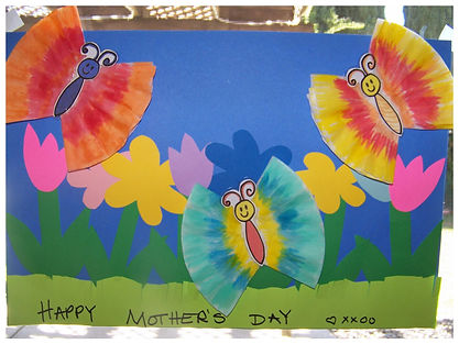 Kidfunideas.com Mother's Day butterfly picture craft- so cute!