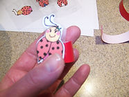 Kidfunideas.com ladybug picnic craft/picture of the ladybug attached to the cup