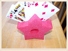 Kidfunideas.com tip: Make a playing card holder from a pool noodle