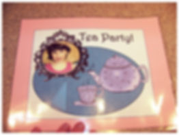 Kidfunideas.com Fancy tea party place mat craft for kids finished picture
