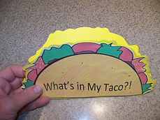 Kidfunideas.com What's in my Taco?! book for Cinco de Mayo picture of the front of the book
