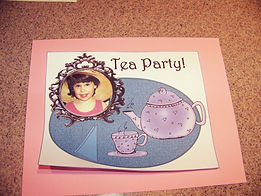 Kidfunideas.com Fancy tea party place mat picture of attacting the place mat to cardstock
