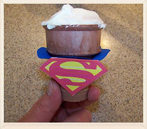 Kidfunideas.com super hero cupcakes recipe directions