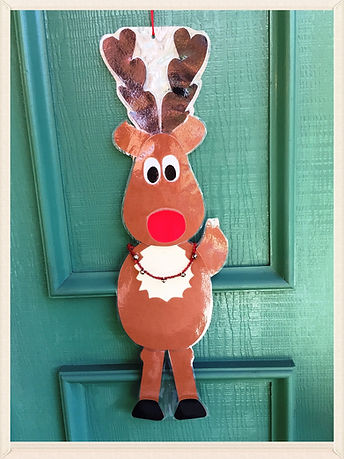 Kidfunideas.com Rudolph the red nose reindeer craft project for kids picture