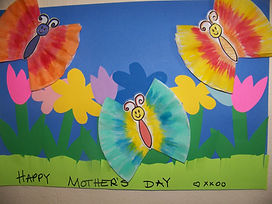 Kidfunideas.com Mother's day butterfly picture - picture of the finished picture