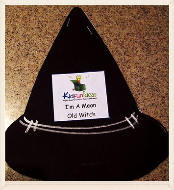 Kidfunideas.com Mean Old Witch Mini book for kids.  Free Halloween book for kids to make.  Great Halloween craft activity