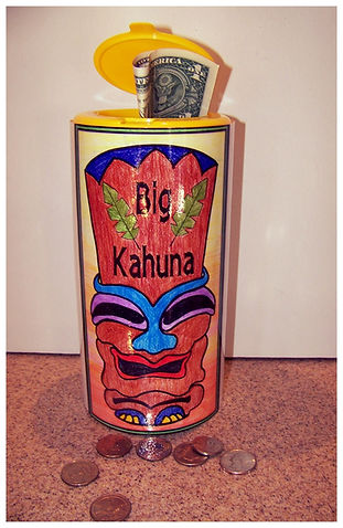 Kidfunideas Big Kahuna Coin Catcher picture of the final craft