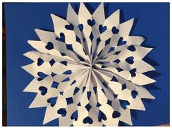 3D Paper snowflake craft
