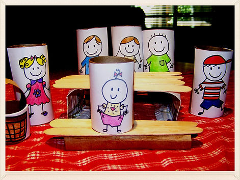 Kidfunideas.com Picnc craft for kids.  Have a picnic with your pals and make this easy summer craft for kids.