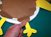 Kidfunideas.com paper plate Thanksgiving craft for kids