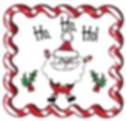 Kidfunideas.com Santa cookie plate artwork.