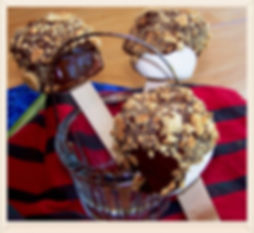 Kidfunideas.com S'more Pops.  All the flavors of s'mores that you can make ahead.  a fun treat for any backyard party or sleepover