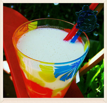 Kidfunideas.com Tarzan Banana Smoothy.  Light and refreshing coconut milk smoothy kids love the tropical flavors.  Great summer breakfast or afternoon snack