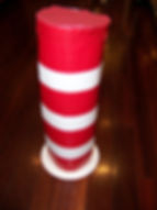 Kidfunideas.com Dr. Seuss Cat in the hat hat craft final picture of finnished craft