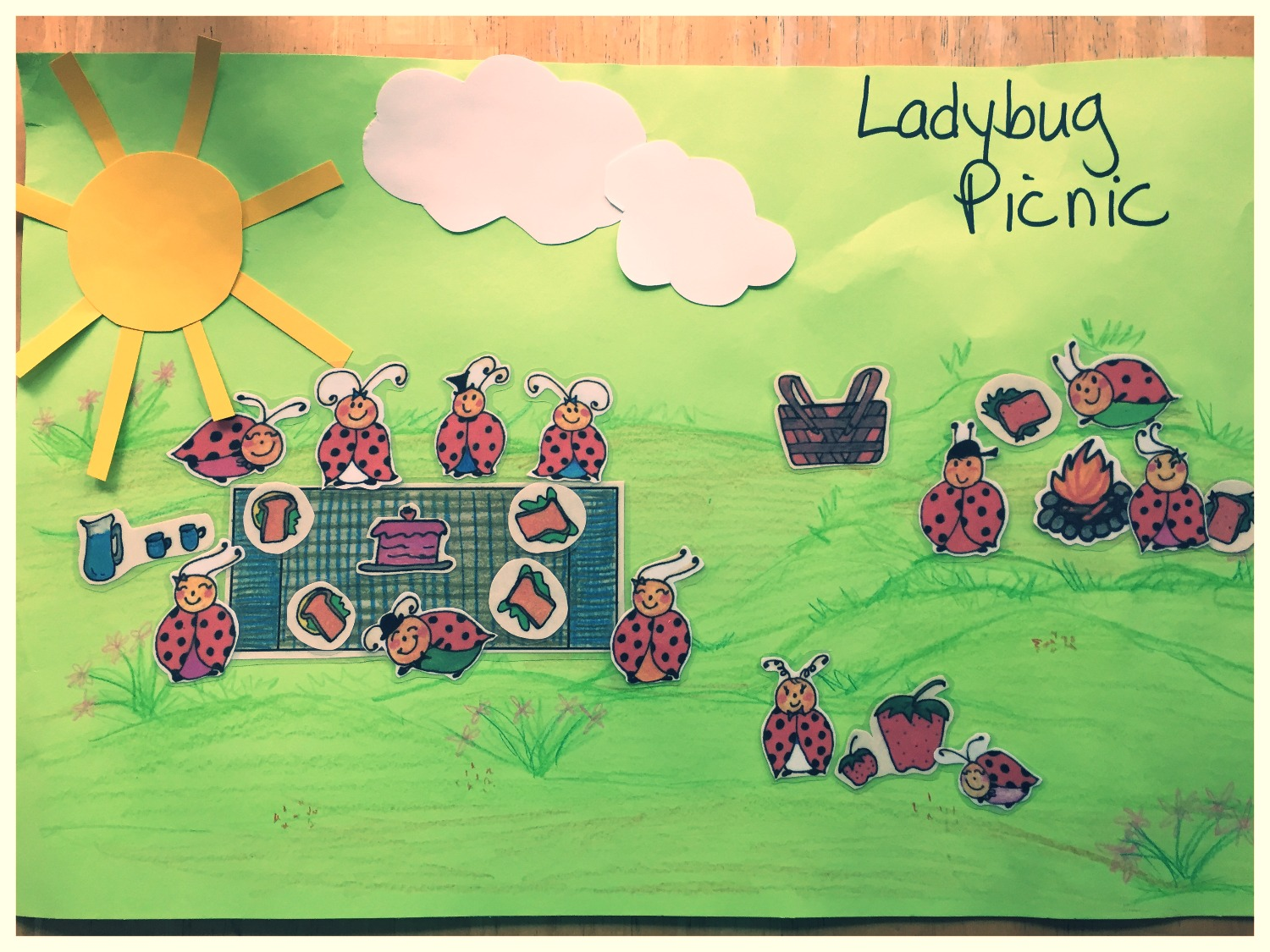 Ladybug Picnic Picture