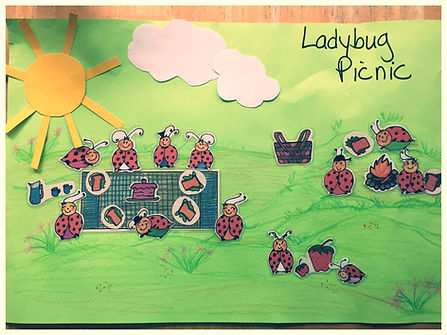 Kidfunideas.com ladybug picnic craft - picture of the picture