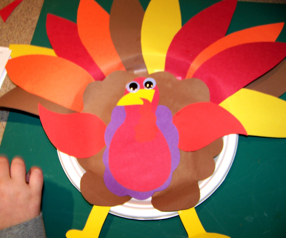 Kidfunideas.com paper plate turkey craft for kids