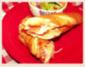 Kidfunideas.com French bread Pizza Sandwiches.  all the flavors or your favorite pizza in a portable version.  Perfect for camping, sleepovers or backyard cookouts