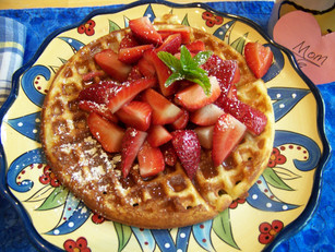 Delicious Maple Bacon Waffle for Mother's Day & Fun Rose Craft!