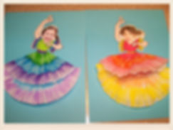 Kidfunideas.com Spanish Dancer craft for kids.  What a fun Cinco de Mayo craft for kids.  Such a pretty craft for kids to make