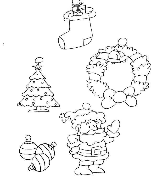 Kidfunideas.com Holiday charm bracelet charm pattern art sheet picture