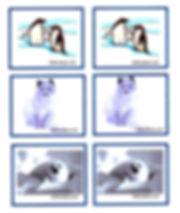 Kidfunides.com Arctic animals match game printout card