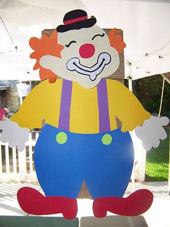 Kidfunideas.com clown paperbag puppet