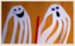 Kidfunideas.com Handprint ghost craft for kids