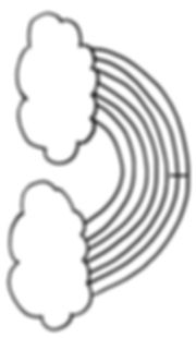 Kidfunideas.com 3D rainbow craft pattern piece