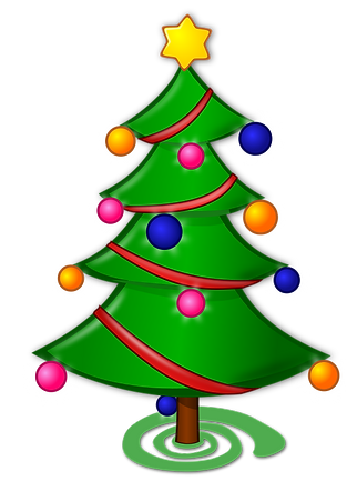 Kidfunideas.com winter and Christmas jokes for kids picture of christmas tree