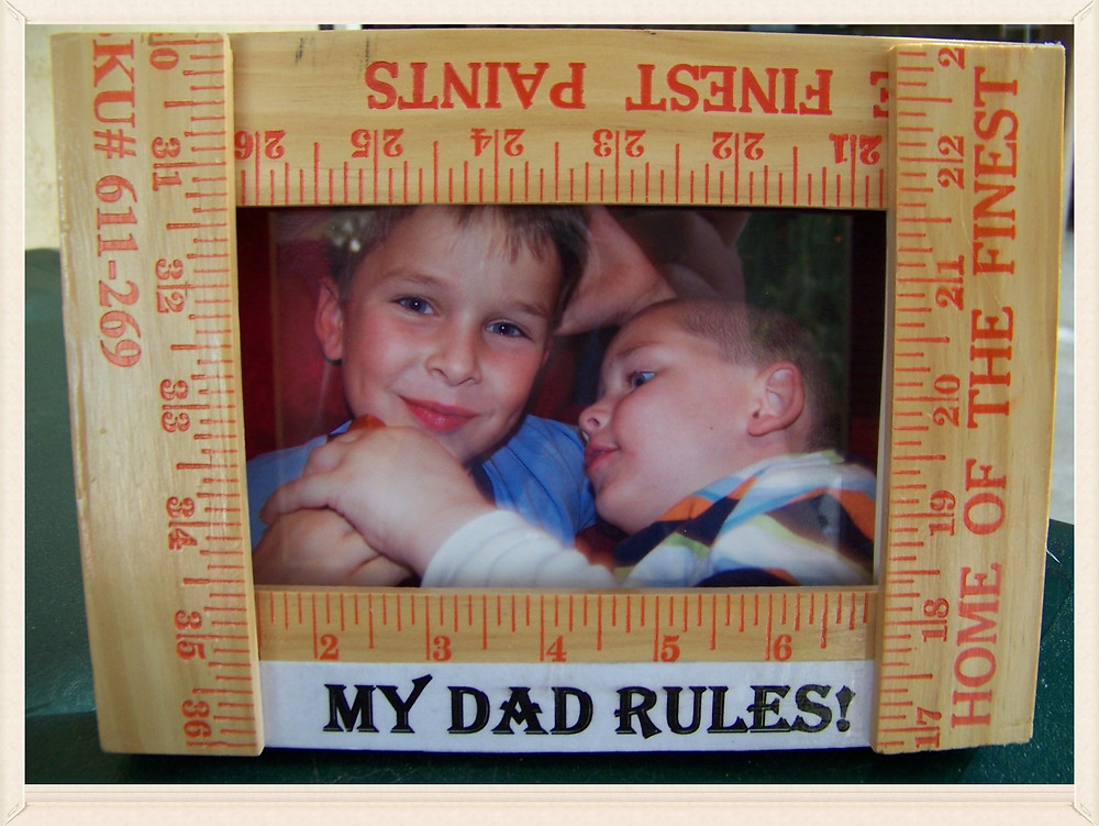 My Dad Rules Picture Frame