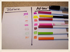 Revive worn out markers with rubbing alcohol
