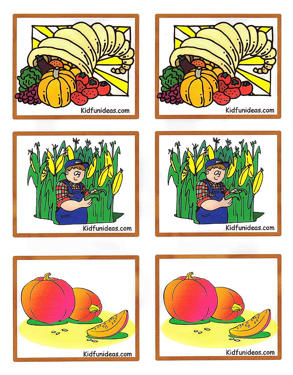 Kidfunideas harvest match game