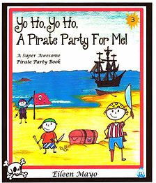 Yo Ho, Yo Ho, A Pirate Party for Me!  A super awesome pirate party book.  The ultimate pirate party book with decorating ideas, invitations, thank you notes, loot bags, pirate games, a treaure hunt and all kinds of Pirate food.  Perfect for Halloween, Pirate Birthday party or Talk like a Pirate Day.