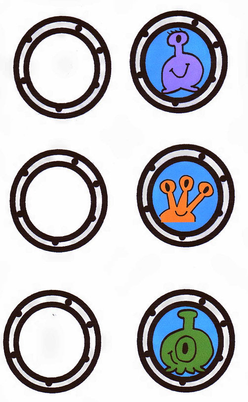 Kidfunideas.com paper bowl flying saucer and alien project space ship decal sheet